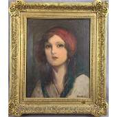 Charles Waltensperger 18701931 Portrait Of A Lady