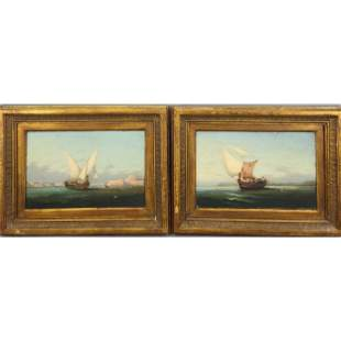 19th O/B Seascape Painting G Gianni 1878