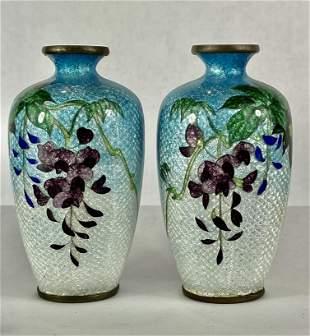 Antique Meiji Period Ca 1890 Japanese Ginbari Vase