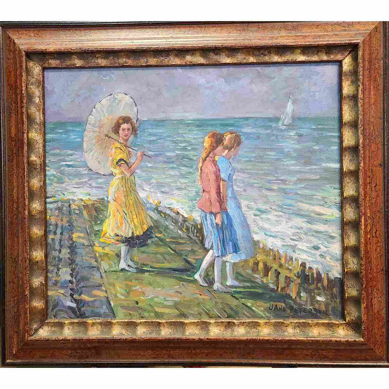 Jane Peterson 1876-1965 Oil On Canvas Painting