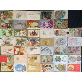 Lg Vintage Lot Of Assorted Postcards W/ Stamps, EARLY!!