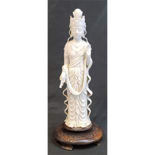 Antique Chinese Blanc De Chine Kwan -Yin