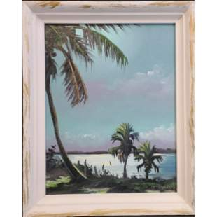 Tracy Newton Florida Highwaymen Landscape Painting