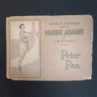 1907 Barrie's Peter Pan Play Book Maude Adams
