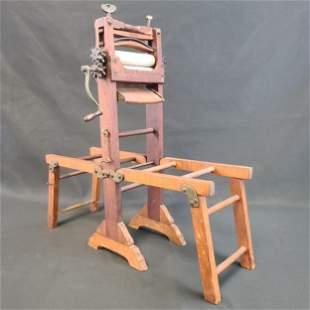 "Salesman's Sample Wood Laundry Wringer ""New York Instal"
