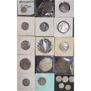 Lot Of 19 Ancient And Antique Coins 1792 Ceylon