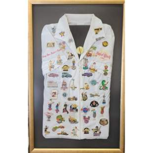 Framed Hard Rock Cafe Collectible Pins  With Shirt (51)