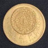 1918 Mexican Gold Coin 17 Grams 20 PESOS