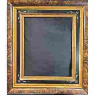 19th C Antique Eastlake Burlwood Frame.