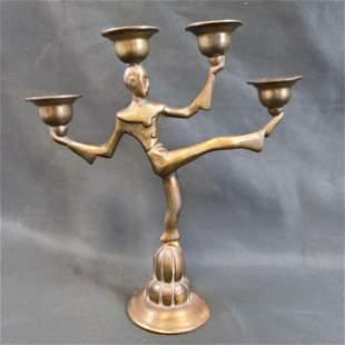 Seville Art Metal Studios Art Deco Candle Holder 1927