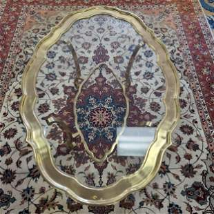 Authentic Labarge Hollywood Regency Brass and Glass