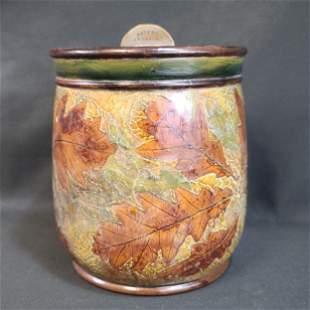 1902 Royal Doulton Foliage Tobacco Jar, No.8346