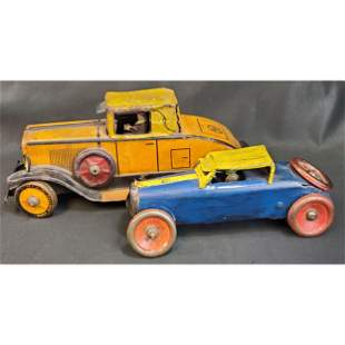 Lot of 2 Early Tin Toys Marx & Unknown Maker