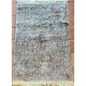 Vintage 100 % Chinese Silk Rug 300 LINE SILK