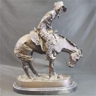Signed Bronze Sculpture Frederick Remington.
