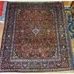 "Antique Persian Kazvin Rug  96"" x 124"""