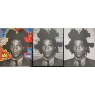"RARE Andy Warhol ""Jean-Michel Basquait"", Triptych"