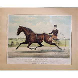 "Currier & Ives Large Folio ""The Champion Pacer"""