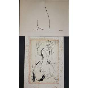 Vintage Pablo Picasso And Modigliani Lithographs