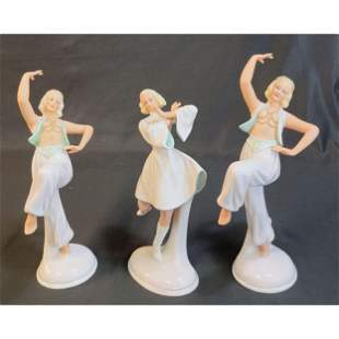 Group of 3 Schau Bach Kunst Porcelain Figurines