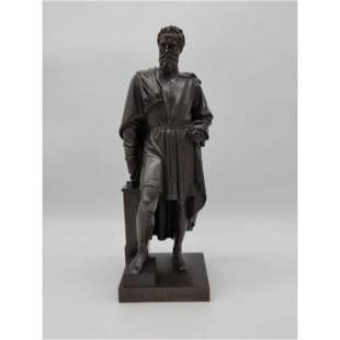Ernst Julius Hahnel 1811-91 Bronze of Michelangelo