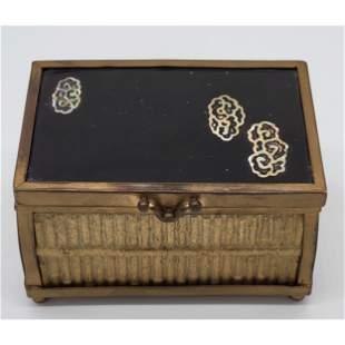 Rare Antique Chinese Yixing & Porcelain Box Signed