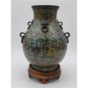 Chinese Cloisonné Vase With Mark 18th C