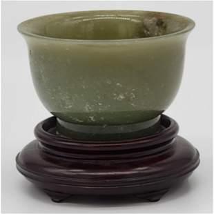 Highly Important Celadon nephrite Jade Bowl  Qianlong M