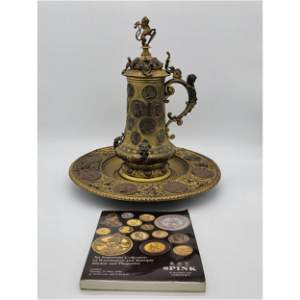 Museum Quality Bronze Beer Stein &Tray 19th Century