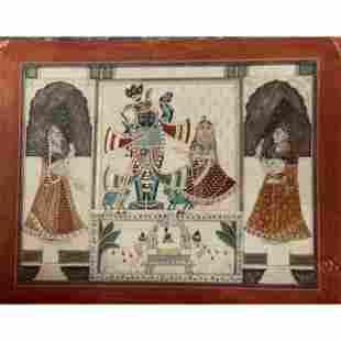 Rare Mughal Painting Circle Of Ghulam Ali Khan