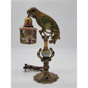 Antique Art Deco Parrot Lamp