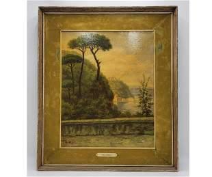 Angelo de Angelis O/C Landscape Painting Signed