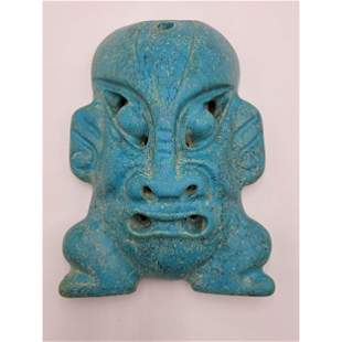 A Fine Chinese Carved Stone Mask