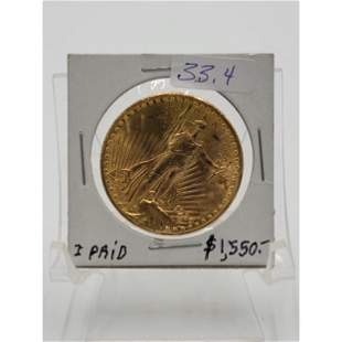 1924 Gold Coin $20 St Gaudens Double Eagle