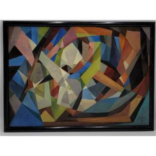 James Daugherty 1889-1974 Abstract Painting On Canvas