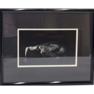 Richard Buffington  Photograph Of A Nude Man Signed