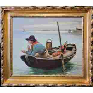 F.. V Stoopendaal 1850-1930 Boy Fishing