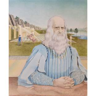 "Robert Rigel ""Da Vinci"" Signed Lithograph"