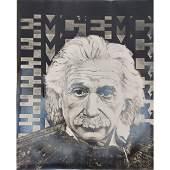 Albert Einstein Portrait Robert Rigel Signed Lithograph