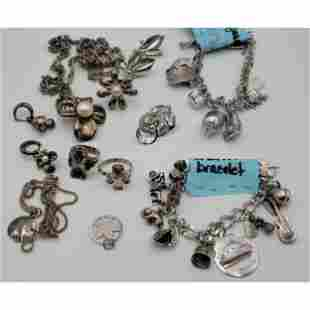 Grouping Of Sterling Silver Jewelry 182.8 Grams