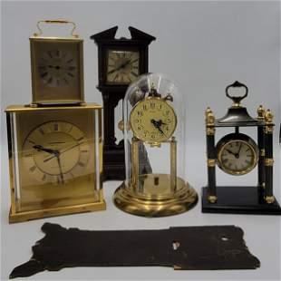 Grouping Of 5 Vintage Clocks Seth Thomas Quartzmatic