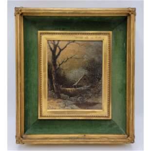 SCOTTISH /  NY Thomas Lochlan Smith 1835-84 Snow Landsc