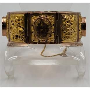 Signed Chinese Gold Bracelet 18 Gold 66.86 Grams