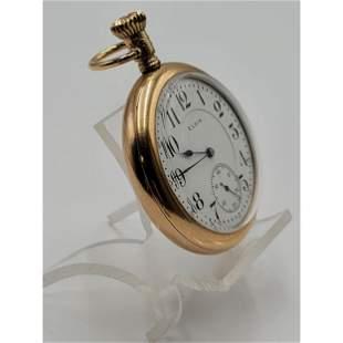 Vintage Gruen Pocket Watch 14K Gold Case Very-Thin Mode