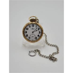 Vintage Ball  Pocket Watch Official Rail Road