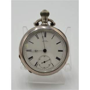 Vintage Waltham Silver Pocket Watch Appleton Tracy Co.