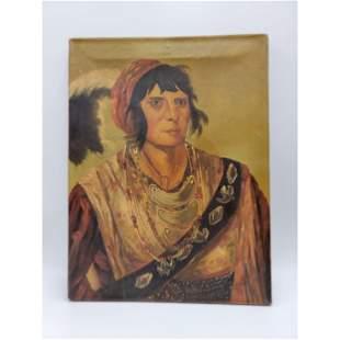 "19th C O/C Native American Indian Portrait ""OCEOLA"""