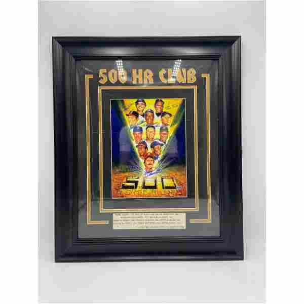 "Autographed MLB ""500 HR CLUB"" Framed Poster"