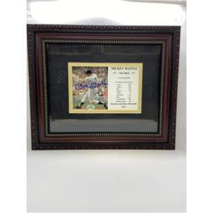 """Authentic Mickey """"THE MICK"""" Mantle Autographed Photo W/"""