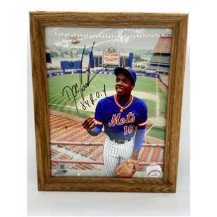 """Autographed Doc Gooden """"84 ROY"""" Framed Photo w/ COA"""